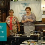 Moderator Cheryl Korn and Lisa Maatz