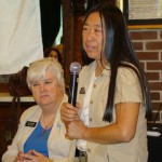 Rep. Sue Chew D. 17B incumbent addressing the group