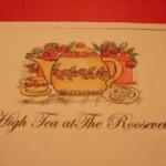 photos of women attending Coeur D'Alene Branch 75th Anniversary high tea