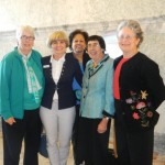 AAUW Idaho leaders with senators at the state capitol